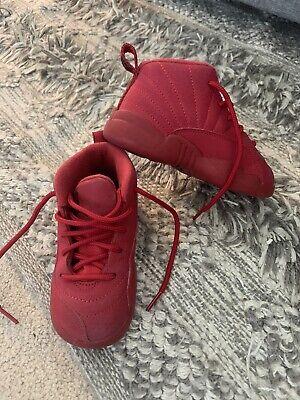 Red Nike Jordan Retro 12 Shoes - Toddler Size 8C