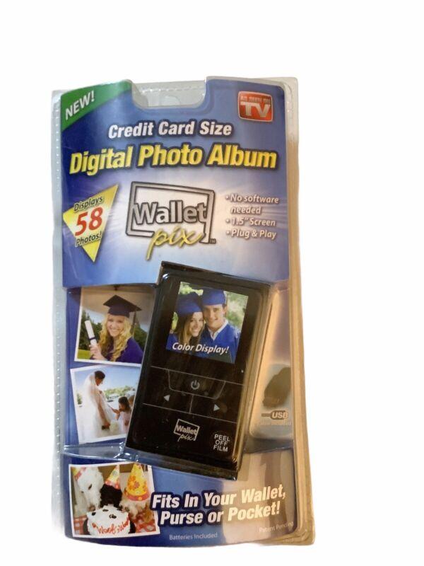 DIGITAL PHOTO ALBUM AS SEEN ON TV WALLET PIX NEW IN PACKAGE A40