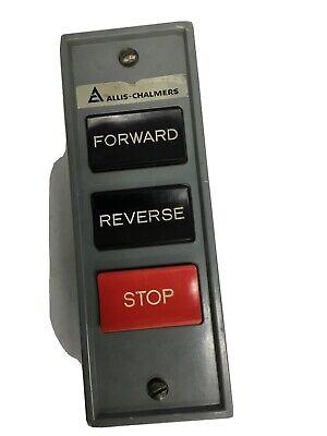 Vintage Allis Chalmers Cutler Hammer Forward Reverse Stop Push Button Control