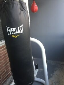 Heavy bag and speed bag stand. With bags
