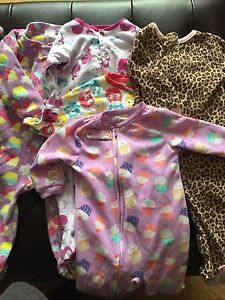 Girls size 12 month sleepers