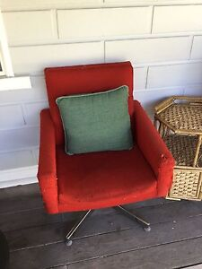 Retro Red Arm Chairs Bolwarra Maitland Area Preview