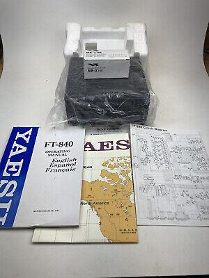 Yaesu FT840 HF NEW Transceiver Ham CB Receiver Manuals Microphone Map Wrap Wow