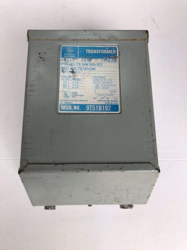 GE General Electric 2 KVA Transformer Model # 9T51B192