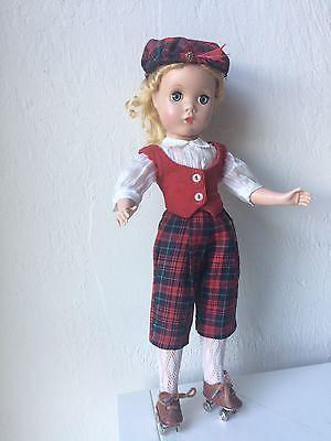 Vintage Madame Alexander Maggie Doll Blonde Blue Eyes Roller Skates EUC