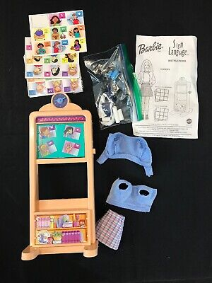 Barbie Pencil Sharpener (Vintage 1999 Mattel Barbie Sign Language Chalkboard w/ pencil sharpener &)