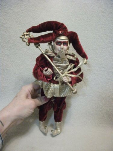 Red & Gold Jester Elf Doll
