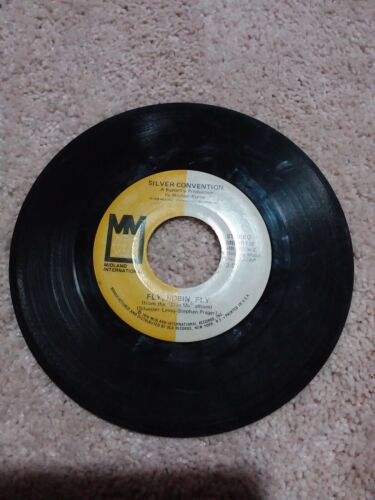 45 RECORD 7 - SILVER CONVENTION - FLY ROBIN FLY Tiger Baby VG - $3.95