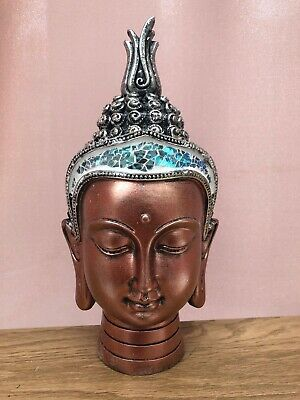 Bronze Thai Buddha Head Decorative Ornament Gift