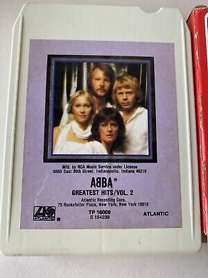 Abba Greatest Hits Vol 2 8 Track Tape 1979 Purple Cover W/Sleeve.