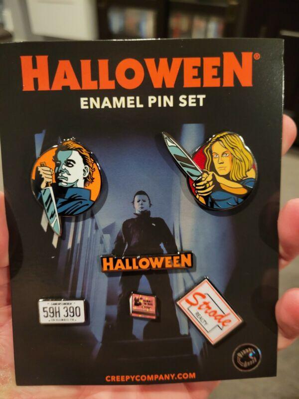 Halloween Michael Myers Horror Enamel 6 Pin Set Jamie Lee Curtis John Carpenter
