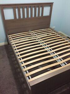 Ikea Hemnes Light Brown Queen Bed