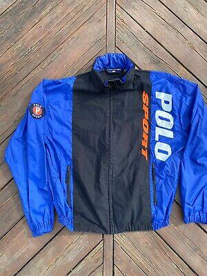 Polo Sport Jacket Windbreaker Vintage Polo Ralph Lauren Size Large With Hood