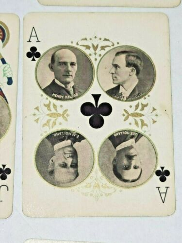 HARRY KELLER LILLIAN RUSSELL 1896 STAGE THEATRE COMPLETE DECK OF CARDS W HOLDER