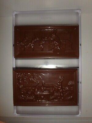 NEU!  SCHOKOLADENFORM 2 x HASEN TAFEL NEW chocolate mold ANTON REICHE # 195-107