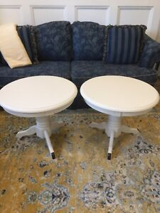 Gorgeous Pair of Refinished Oak Side / End Tables