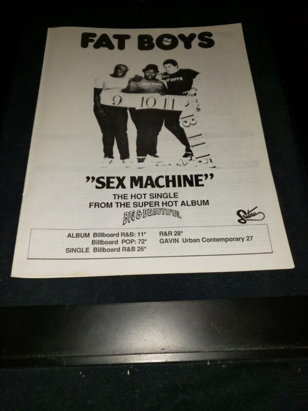 Fat Boys Sex Machine Rare Original Radio Promo Ad Framed!