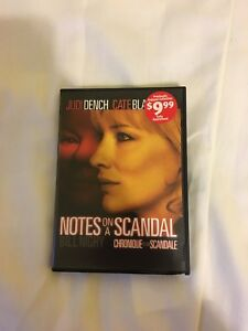 Notes on a scandal DVD