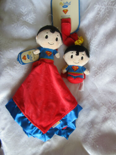 Hallmark Itty Bittys Superman Blanket and Rattle NWT