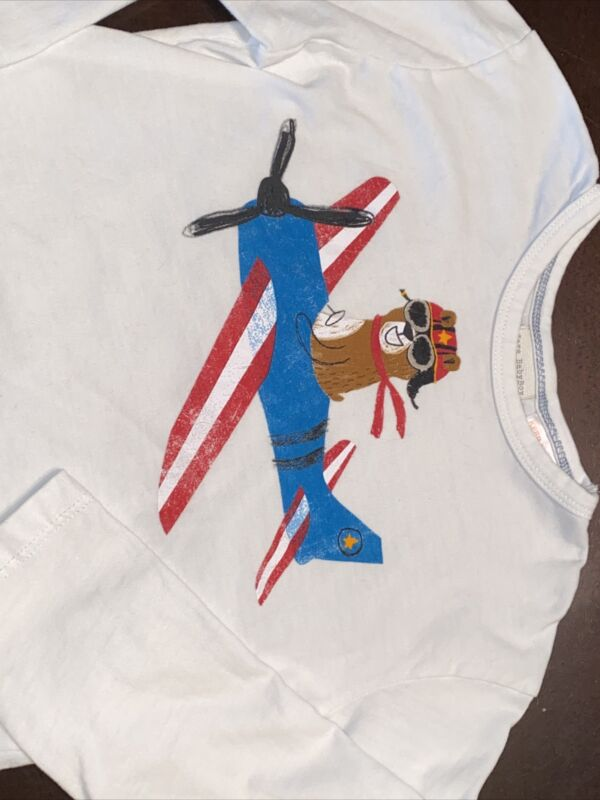 Zara Baby Boy Toddler Boys Size 12-18 Months Airplane Long Sleeve Shirt