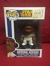 Funko Pop Star Wars Admiral Ackbar #28 retired Figtree Wollongong Area Preview