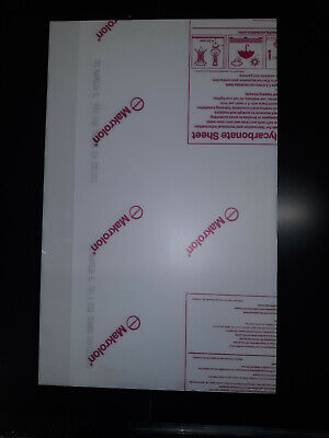 White Polycarbonate Sign Grade Makrolon 14 Thick Sht23.75 X 14.88 10 Pack