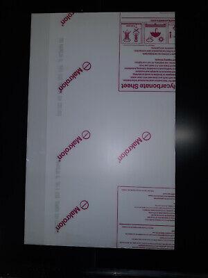 White Polycarbonate Sign Grade Makrolon 14 Thick Sht23.75 X 14.88 10 Pack