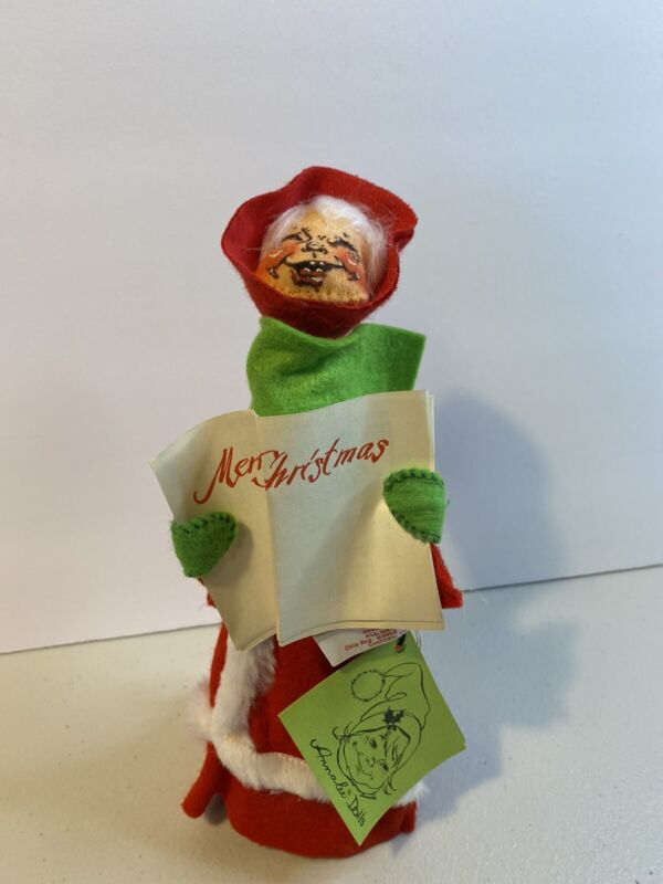 1971 Annalee Christmas Caroler Tree Topper With Sheet Music & Tags