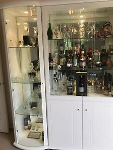 White glossy display/alcohol cabinet Berwick Casey Area Preview