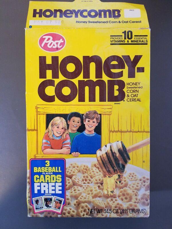 CEREAL BOX :  Post  HONEYCOMB     1991