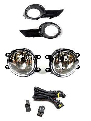 For 2008 2010 Toyota Highlander Clear Lens Bumper Driving Fog Light Bulbs -