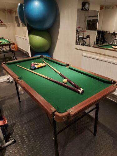 Slate bed snooker pool table used