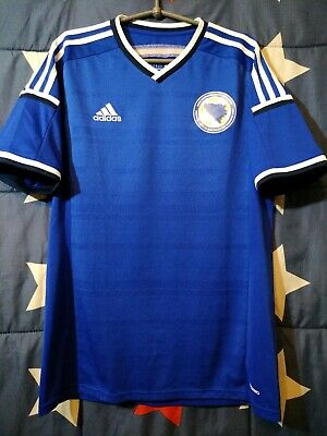 SIZE L Bosnia And Herzegovina 2014-2015 Player Issue Home Football Shirt Jersey image