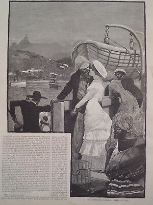 Victorian Era Art Fashion Style Interior Design Romance Yacht Sailing 1882 #5