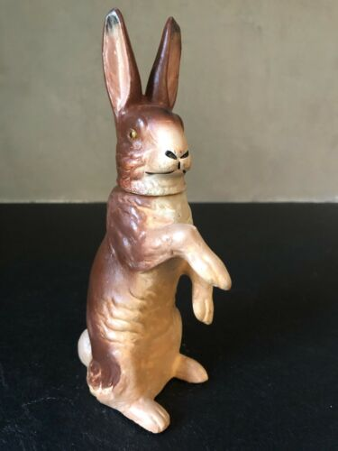 Vintage GERMAN RABBIT CANDY CONTAINER Easter #29