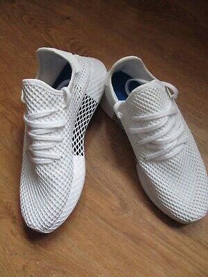 Adidas Originals Deerupt White Black Men`s Running Shoe Trainer SNEAKERS UK 10