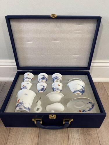 Vintage Chinese 13pc Tea Set in Box Very Nice
