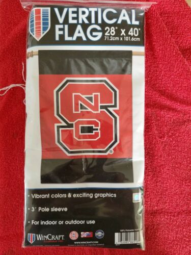 North Carolina State Wolfpack Vertical Pole Flag NCAA Licens