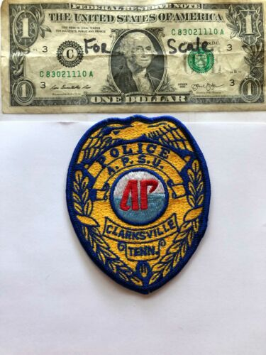 Very Rare Clarksville Tennessee Police patch(A.P.S.U.) Un-sewn great condition