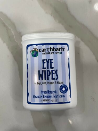 Earthbath Natural Pet Care Eye Wipes Tear Stain Remover