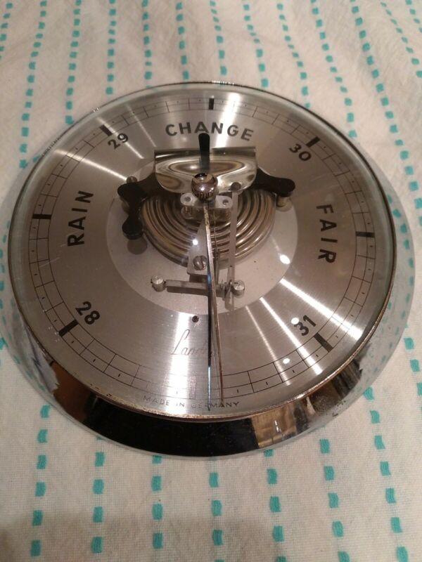 Vintage LANDOU Germany Barometer-SIlver