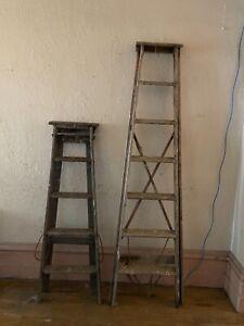 Vintage Wooden Ladders