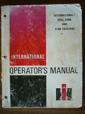 Ih Farmall Mccormick International 3388 3588 3788 22 Owners Manual