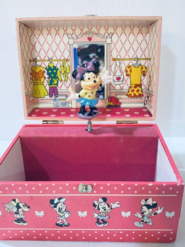 Vintage Minnie n Me Disney 80's Jewelry Music Box - No Sound