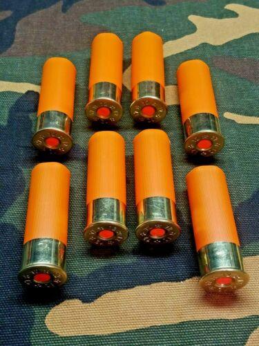 """12 GAUGE 2 3/4"""" SNAP CAPS DUMMY TRAINING ROUNDS SET OF 8 """"SAFETY ORANGE"""""""