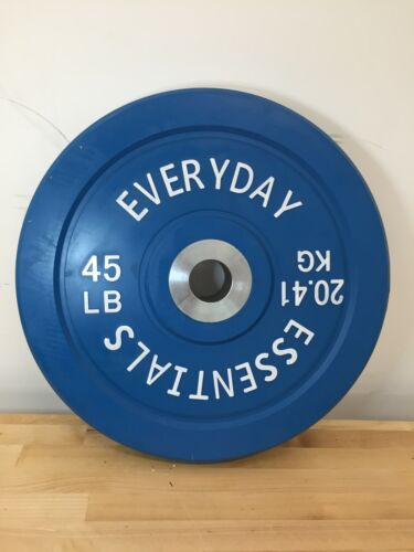"""45 lb. Olympic Rubber Bumper Plate (Total 45 lb.) 2"""" center hole"""