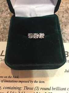 14k Gold ring with 3 diamonds- make an offer