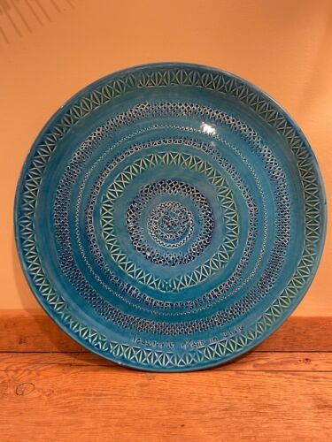 TADINATE Platter in Bitossi Style Blue Platter Charger Made in Italy