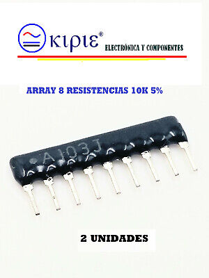 ARRAY DE RESISTENCIAS 9 PIN, PIN COMUN, 10 K,1/4W, 5 %, ALTA...
