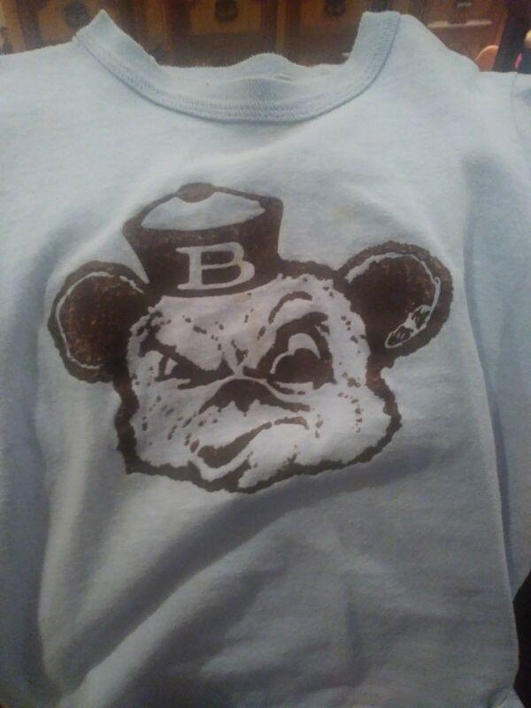 Brown University Bruno Bear Mascot Shirt Child 70s 80s Providence Rhode Island